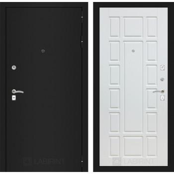 Входная дверь Labirint CLASSIC шагрень черная 12 - Белое дерево