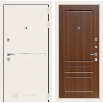 Входная дверь Labirint Лайн WHITE 03 Орех бренди