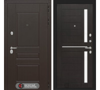 Входная дверь Labirint Мегаполис 02 - Венге, стелко белое