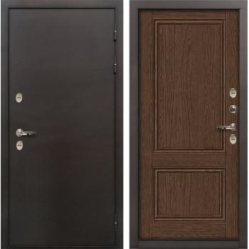 Входная дверь с терморазрывом Лекс Термо Сибирь 3К Энигма-1 Орех (панель №57)