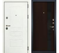 Входная дверь Лекс Сенатор 3К Шагрень белая Новита (№53 Венге)