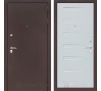 Входная дверь Labirint CLASSIC антик медный 14 - Дуб кантри белый горизонтальный