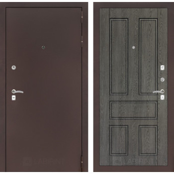 Входная дверь Labirint CLASSIC антик медный 10 - Дуб филадельфия графит