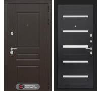 Входная дверь Labirint Мегаполис 01 - Венге, стекло белое