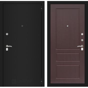 Входная дверь Labirint CLASSIC шагрень черная 03 - Орех премиум