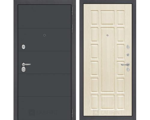 Входная дверь ART графит 12 Беленый дуб
