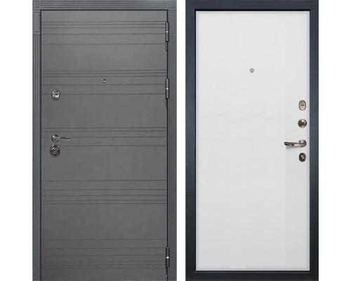 Входная дверь Лекс Сенатор 3К Софт графит (№62 Ясень белый)