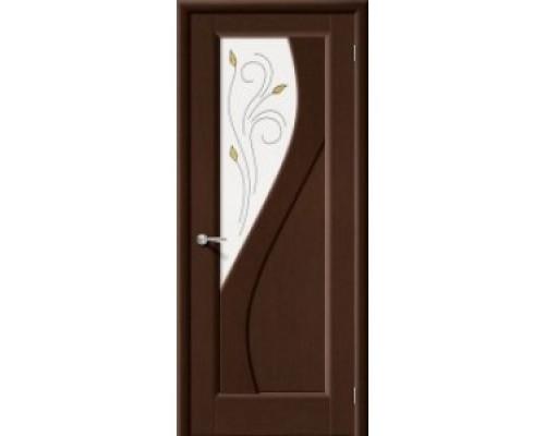 Межкомнатная шпонированная дверь Сандро ПО венге
