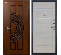 Входная металлическая дверь Лекс Спартак Cisa Клеопатра-2 Ясень кремовый (панель №66)