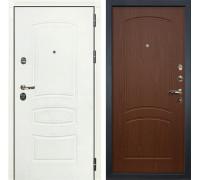 Входная металлическая дверь Лекс Сенатор 3К Шагрень белая (№11 Береза мореная)