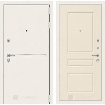 Входная дверь Labirint Лайн WHITE 03 Крем софт