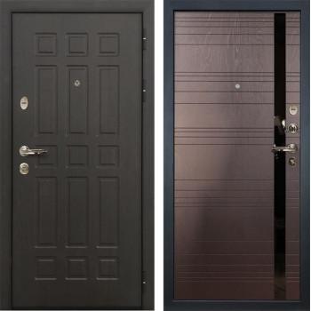 Входная металлическая дверь Лекс 8 Сенатор Ясень шоколад (панель №31)