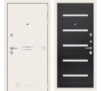 Входная дверь Labirint Лайн WHITE 01 Венге, стекло белое
