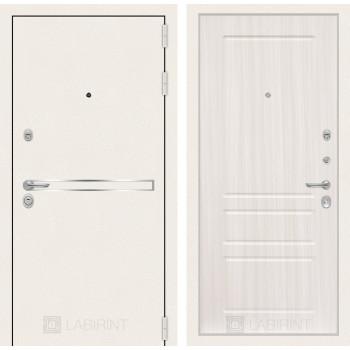 Входная дверь Labirint Лайн WHITE 03 Сандал белый