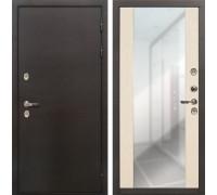 Входная дверь с терморазрывом Лекс Термо Сибирь 3К Стиль Зеркало Беленый дуб (панель №45)