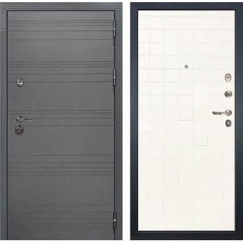 Входная дверь Лекс Сенатор 3К Софт графит Тетрис (№56 Ясень белый)