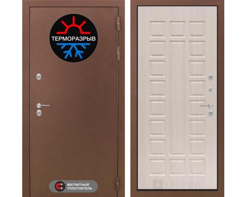 Входная дверь с терморазрывом Labirint Термо Магнит 04 Беленый дуб (двери с терморазрывом)