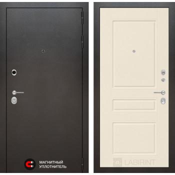 Входная дверь Labirint SILVER 03 - Крем софт