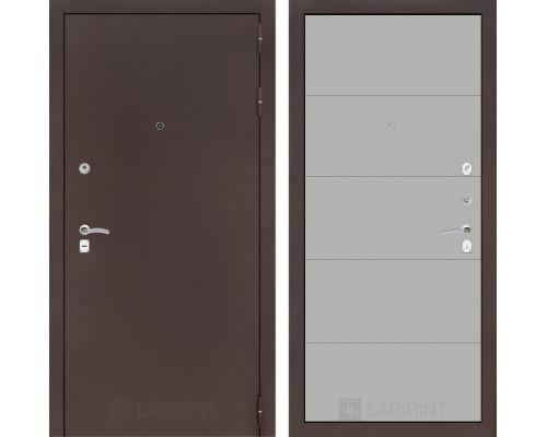 Входная дверь Labirint CLASSIC антик медный 13 - Грей софт