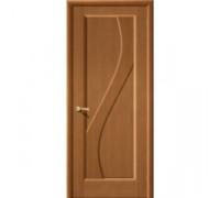 Межкомнатная шпонированная дверь Сандро ПГ орех файн-лайн