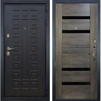 Входная металлическая дверь Лекс Гладиатор 3К Неро Графит Шале (панель №65)
