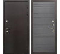 Входная металлическая дверь с терморазрывом Лекс Термо Сибирь 3К Графит софт (панель №70)