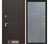 Входная дверь Labirint Мегаполис 09 - Лен сильвер грей