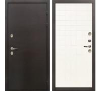 Входная металлическая дверь с терморазрывом Лекс Термо Сибирь 3К Ясень белый (панель №56)