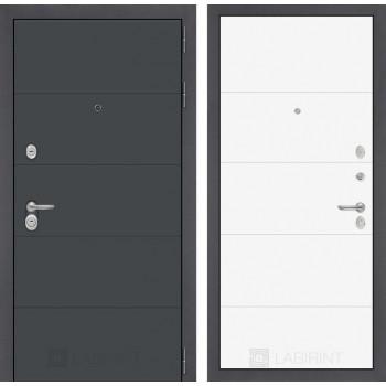 Двери Лабиринт входная дверь Labirint ART графит 13 Белый софт (двери в квартиру)