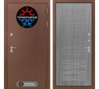 Входная дверь с терморазрывом Labirint Термо Магнит 06 Сандал серый