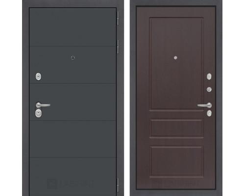 Входная дверь ART графит 03 Орех премиум