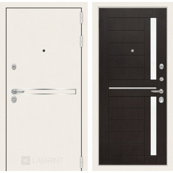 Входная дверь Labirint Лайн WHITE 02 Венге, стекло белое