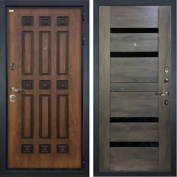 Входная металлическая дверь Лекс Гладиатор 3К Винорит Неро Графит Шале (панель №65)