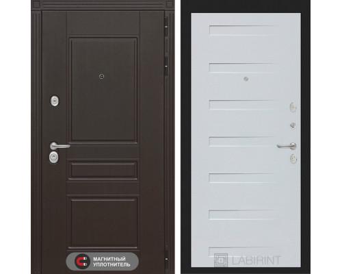 Входная дверь Labirint Мегаполис 14 - Дуб кантри белый горизонтальный
