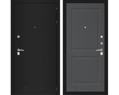 Входная дверь Labirint CLASSIC шагрень черная 11 - Графит софт