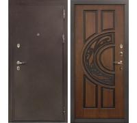 Входная металлическая дверь Лекс 5А Цезарь Голден патина черная (панель №27)