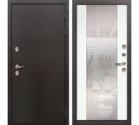 Входная дверь с терморазрывом Лекс Термо Сибирь 3К Стиль Зеркало Ясень белый (панель №61)