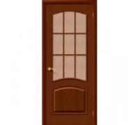 Межкомнатная шпонированная дверь Капри 3 ПО Темный Орех