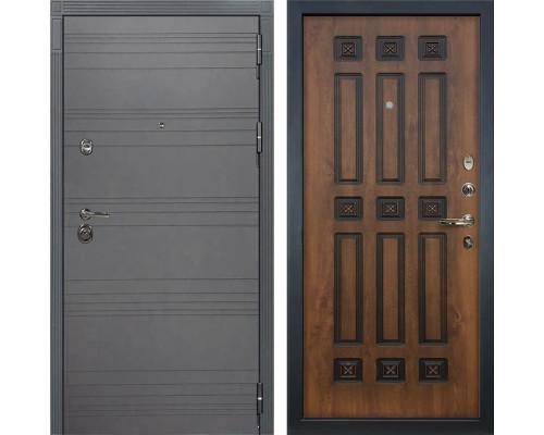 Входная дверь Лекс Сенатор 3К Софт графит (№33 Голден патина черная)