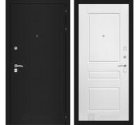 Входная дверь Labirint CLASSIC шагрень черная 03 - Белый софт