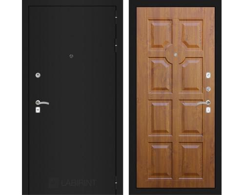 Входная дверь Labirint CLASSIC шагрень черная 17 - Золотой дуб