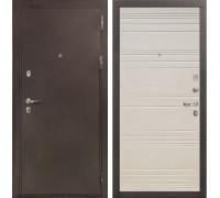 Входная металлическая дверь Лекс 5А Цезарь Дуб фактурный кремовый (панель №63)