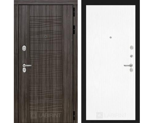 Входная дверь Labirint SCANDI Дарк грей 07 - Белое дерево