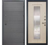 Входная дверь Лекс Сенатор 3К Софт графит с Зеркалом (№23 Дуб беленый)