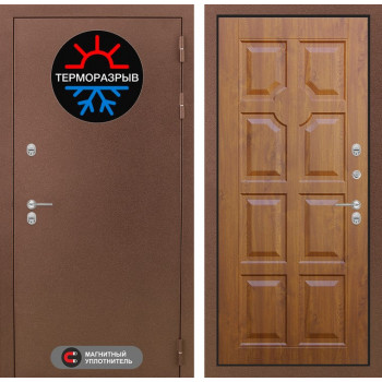 Входная дверь с терморазрывом Labirint Термо Магнит 17 Золотой дуб (уличная дверь с терморазрывом)