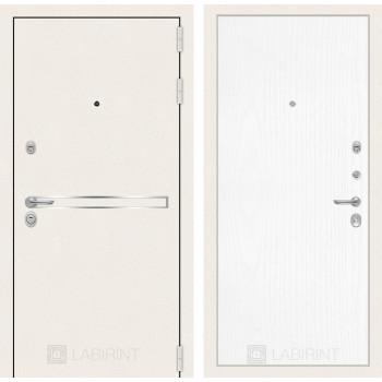 Входная дверь Labirint Лайн WHITE 07 Белое дерево