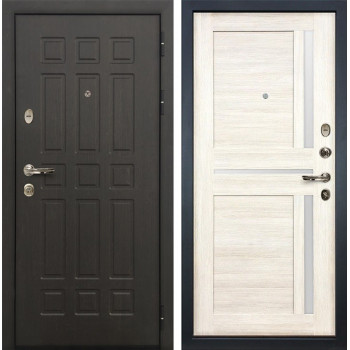 Входная металлическая дверь Лекс 8 Сенатор Баджио Дуб беленый (панель №47)