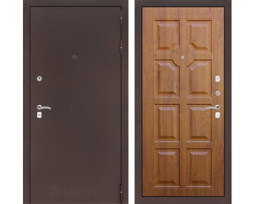 Входная дверь Labirint CLASSIC антик медный 17 - Золотой дуб