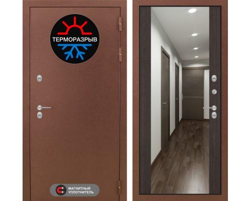 Входная дверь Labirint Термо Магнит с Зеркалом Максимум Венге (двери с терморазрывом)