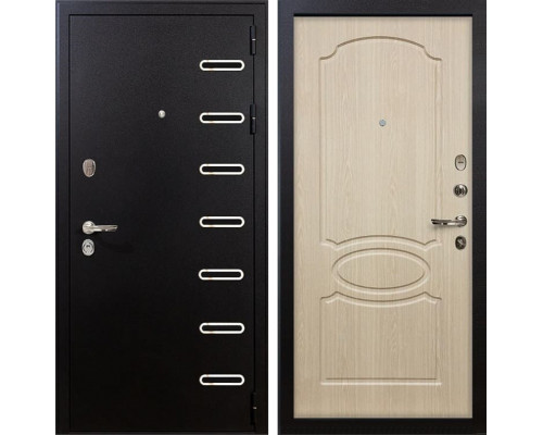 Входная металлическая дверь Лекс Витязь Белёный дуб (панель №14)